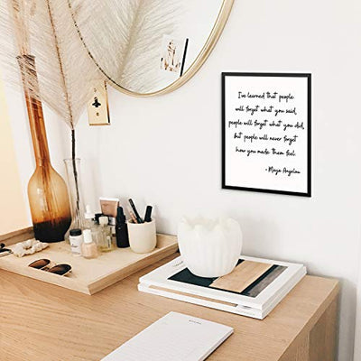 Inspirational Maya Angelou Quote Wall Art