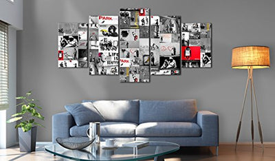 "artgeist Canvas Wall Art Print Banksy 100x50 cm / 39.37""x19.68"" 5pcs Home Decor Framed Stretched Picture Photo Painting Artwork Image i-C-0092-b-p"