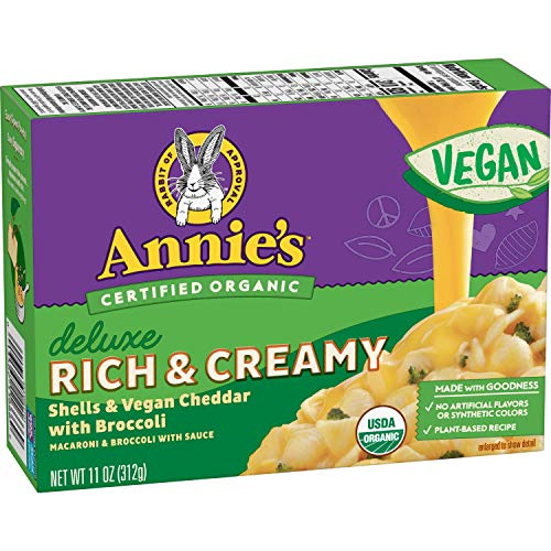Annie's Organic Deluxe Rich & Creamy Shells & Vegan Cheddar with Broccoli, 11oz