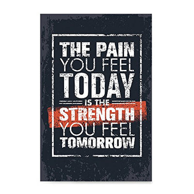 EzPosterPrints - Gym Inspiration Motivation Quotes - Poster Printing - Inspirational Motivational Wall Art Print for Home Office Decor - The Pain - 12X18 inches