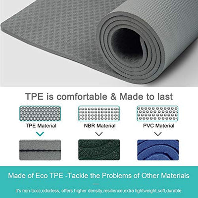 Yoga Mat Non Slip - Eco Friendly Exercise Fitness Mat