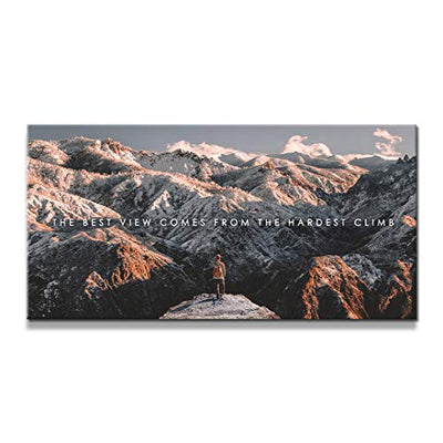 "IKONICK The Climb Inspirational Canvas Wall Art, Travel Collection for Office and Home Decor, Inspiring Canvas Art - 40"" x 20"".75"" Depth No Frame"
