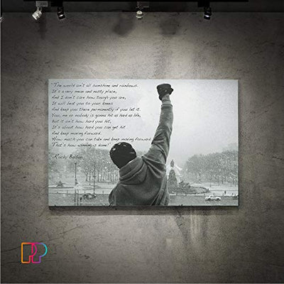 Panther Print Rocky Balboa Canvas Print