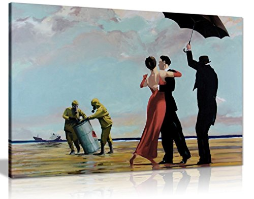 Banksy Toxic Beach Canvas Wall Art Picture Print (30x20in)