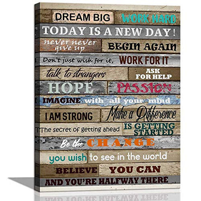 Inspirational Wall Art Motivational Poster Quotes