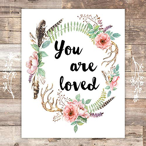 You Are Loved Art Print - Unframed - 8x10