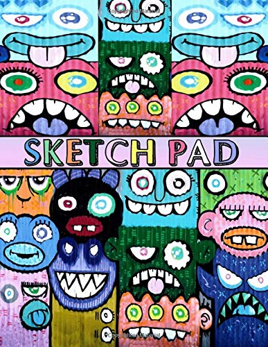 "Sketch Pad: Graffiti Art Cover - Sketch Book for kids and adults - Blank Drawing Pad to Practice How to Draw, Doodle and Color Extra Large 8.5"" x 11"" (Graffiti Urban Art)"