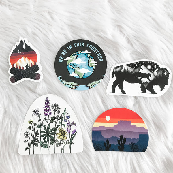 Outdoorsy Stickers