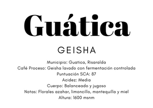 Guática geisha #blackRibbon