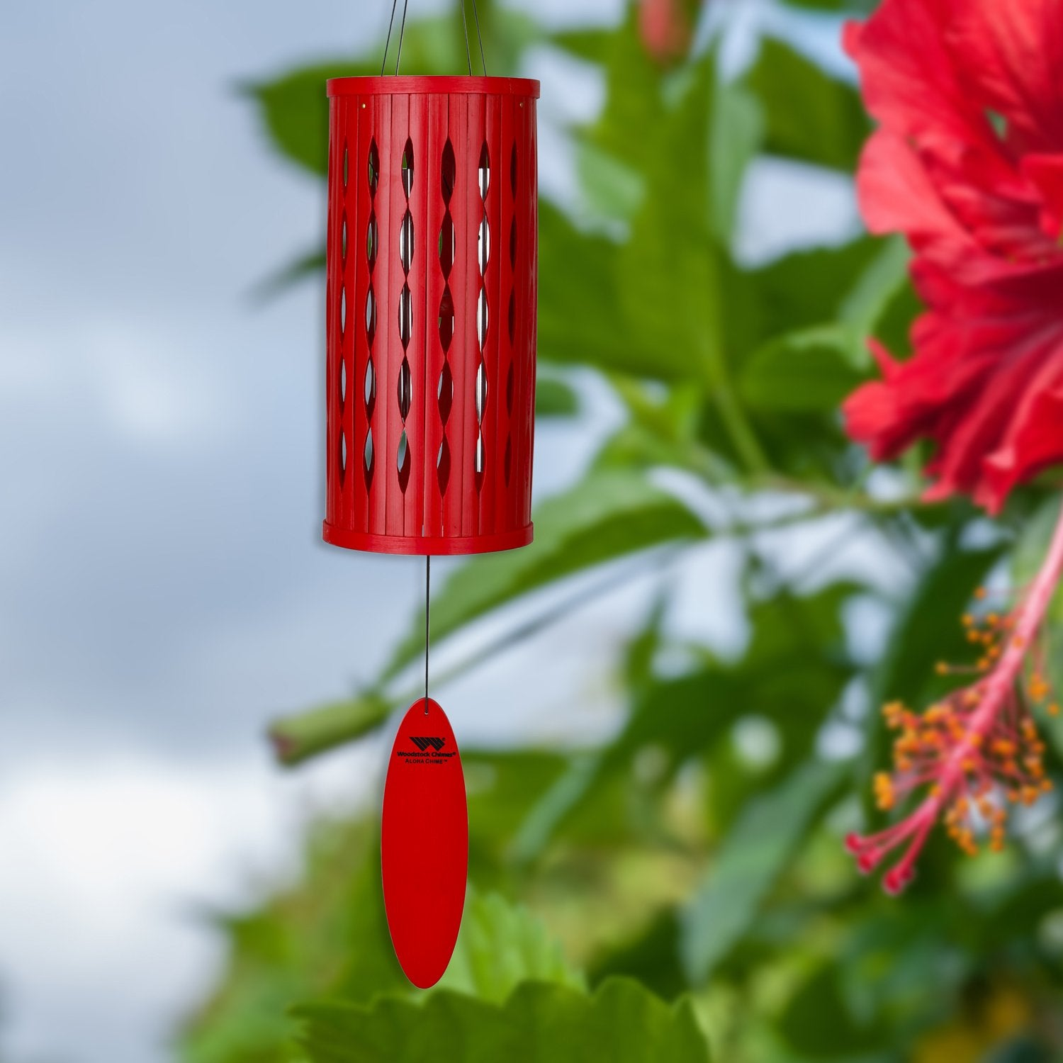 Aloha Chime - Hibiscus Red - lifestyle image