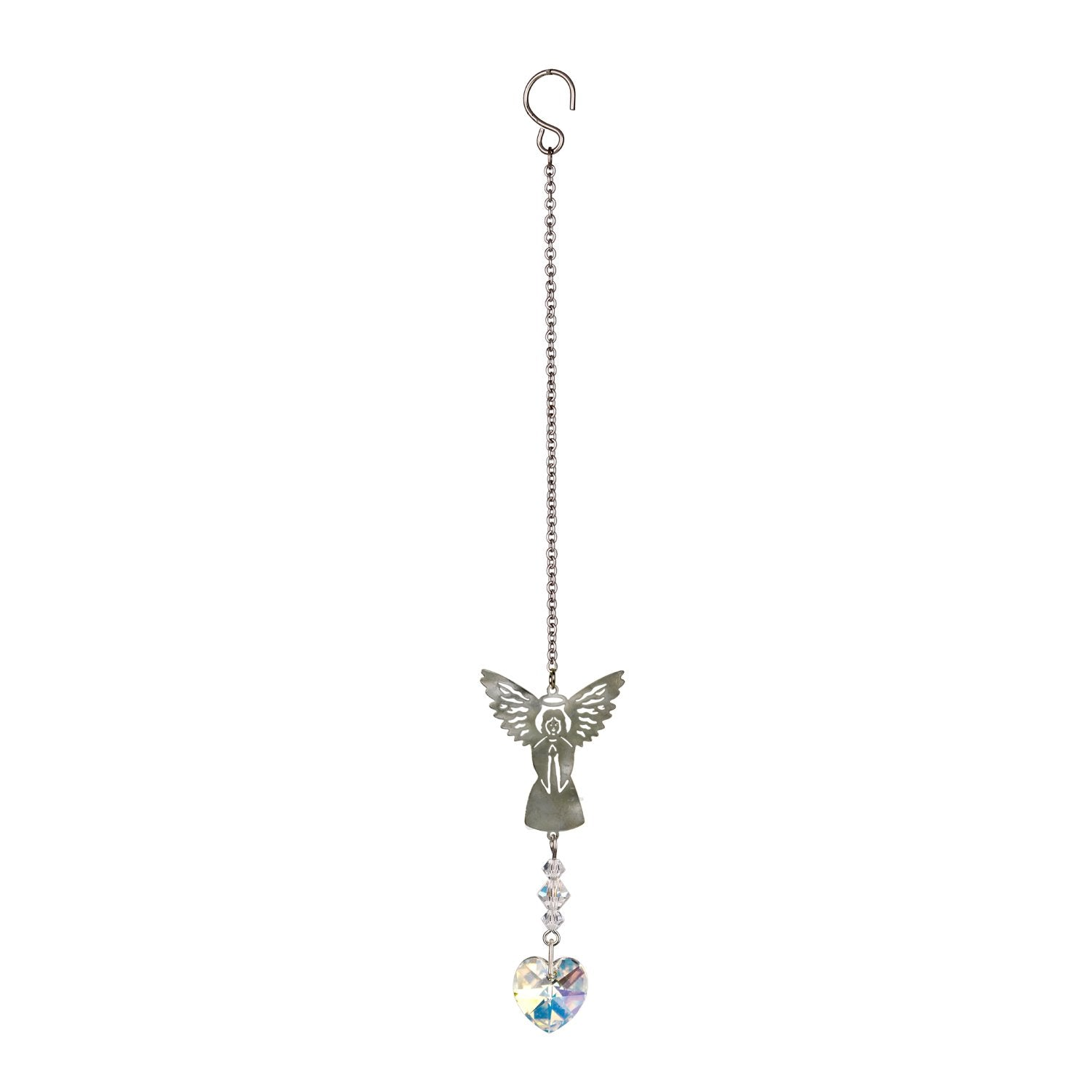 Birthstone Angel Crystal Suncatcher - April full product image