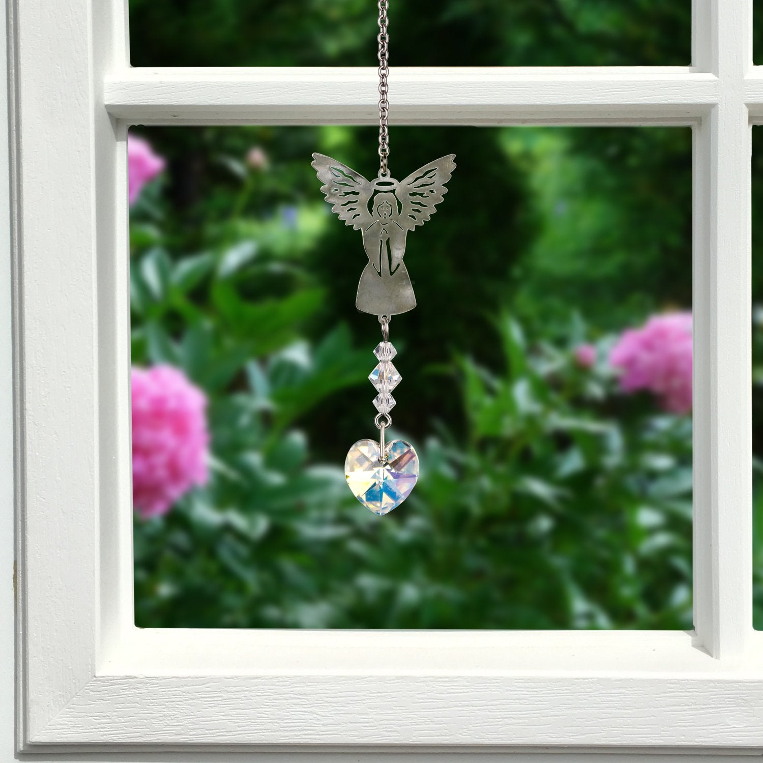 Birthstone Angel Crystal Suncatcher - April lifestyle image