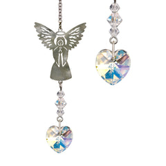 Birthstone Angel Crystal Suncatcher - April main image