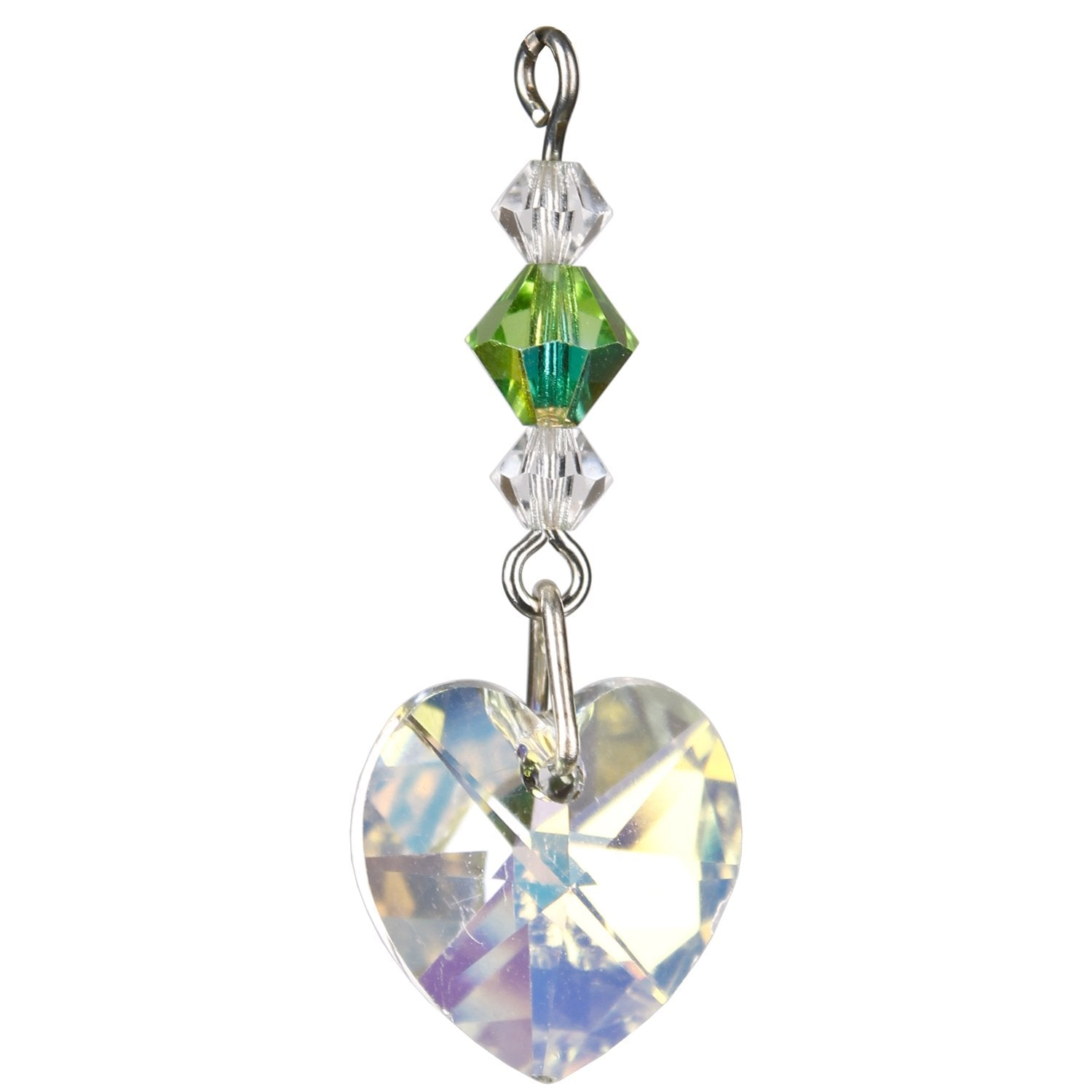 Birthstone Angel Crystal Suncatcher - August closeup image