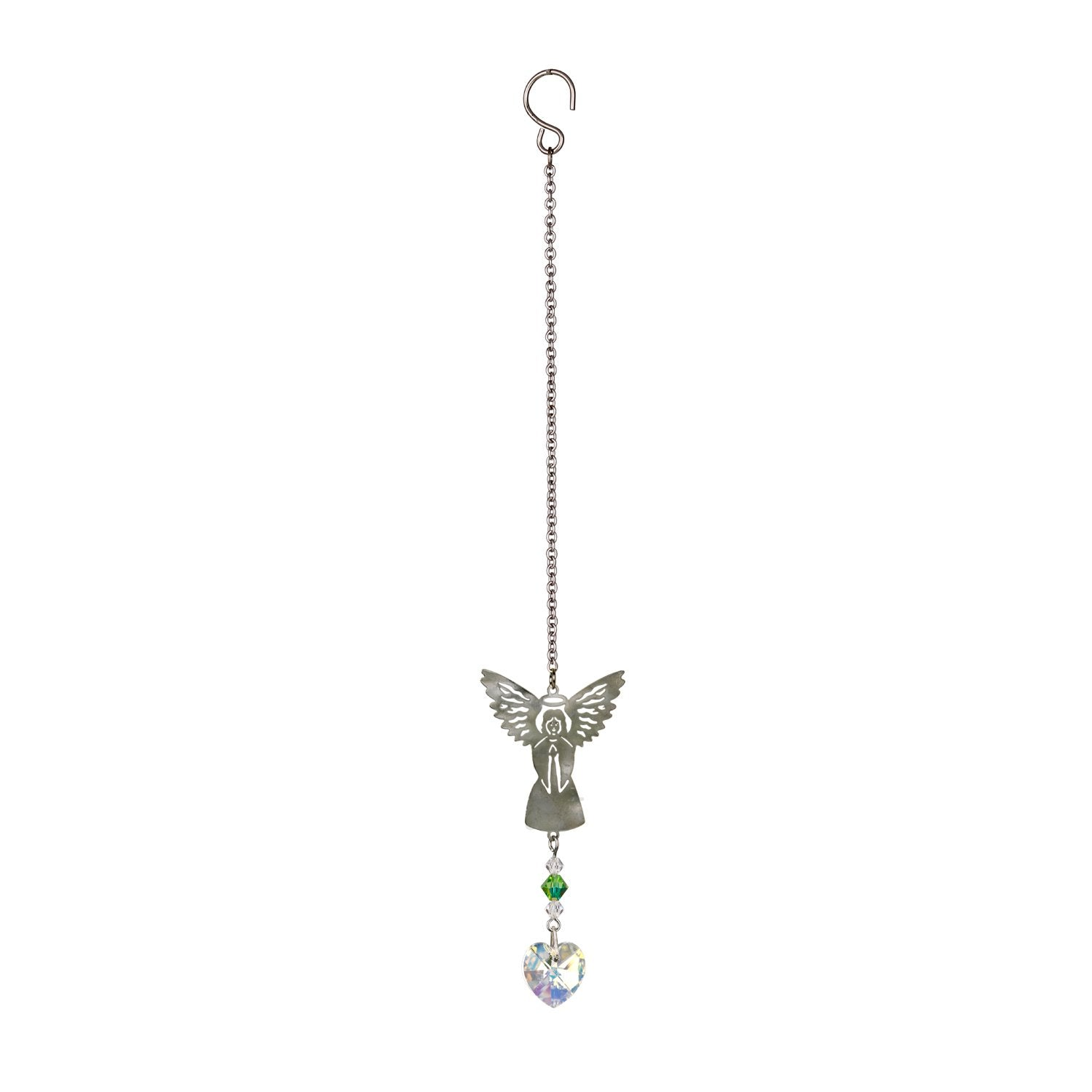 Birthstone Angel Crystal Suncatcher - August full product image