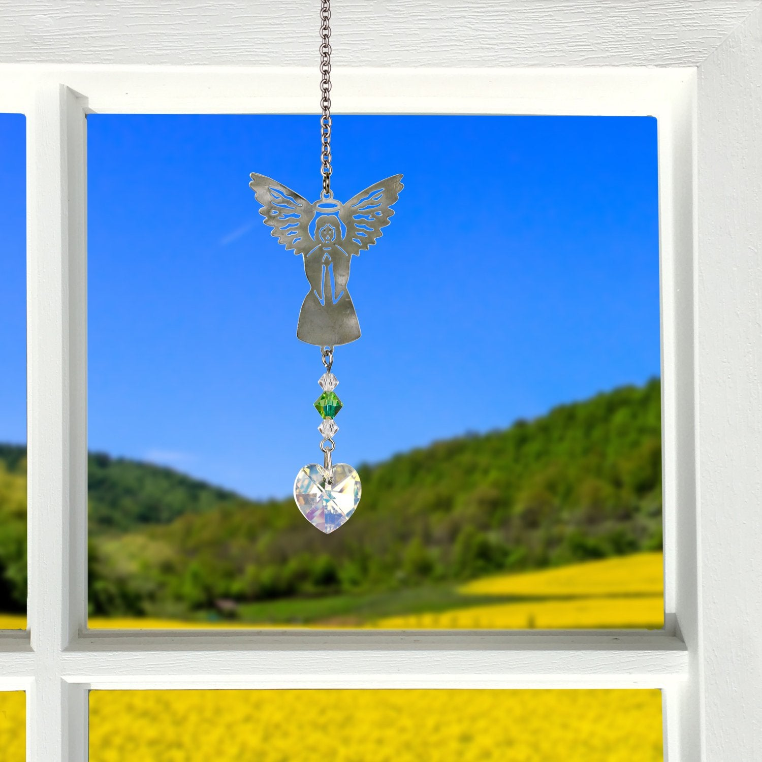 Birthstone Angel Crystal Suncatcher - August lifestyle image