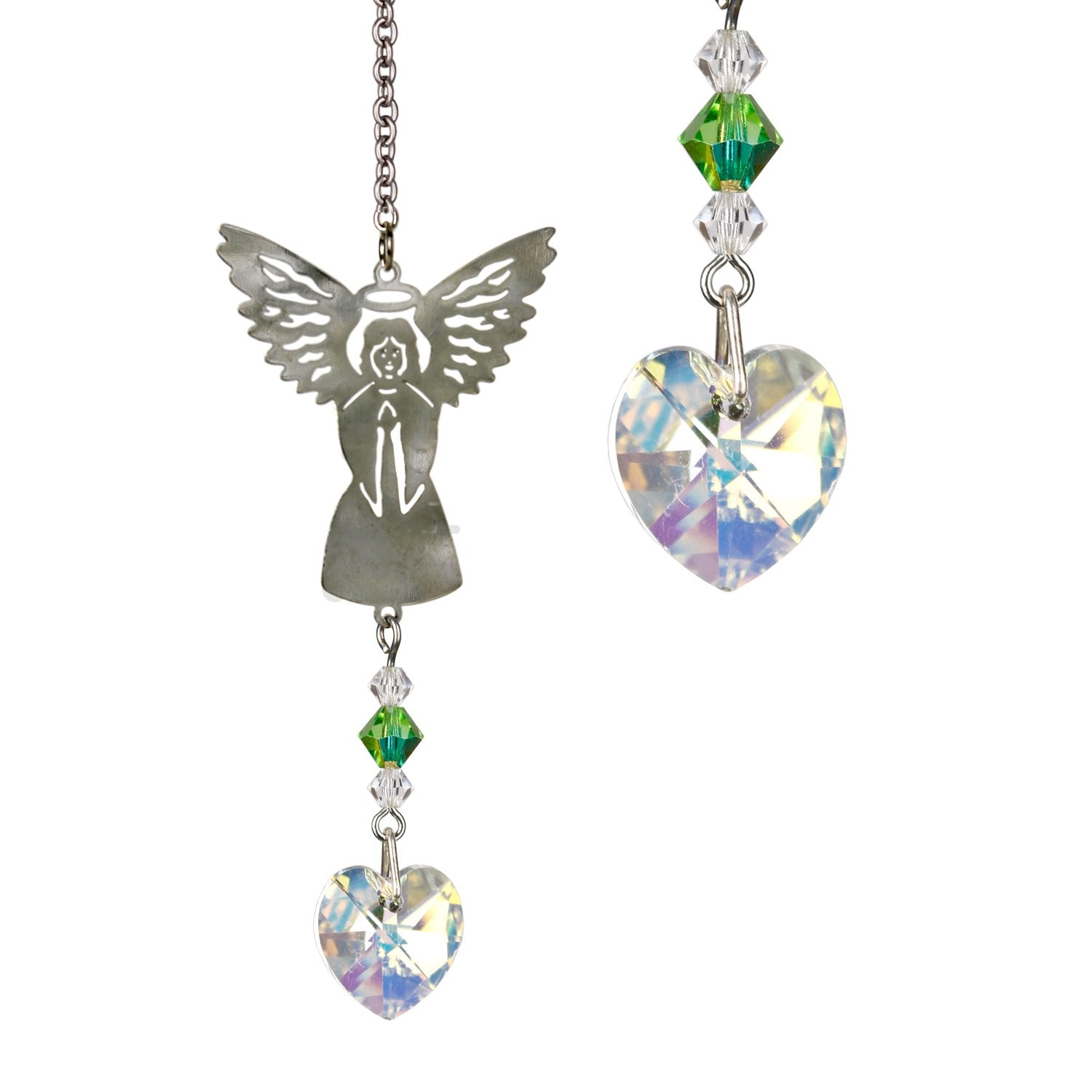 Birthstone Angel Crystal Suncatcher - August main image
