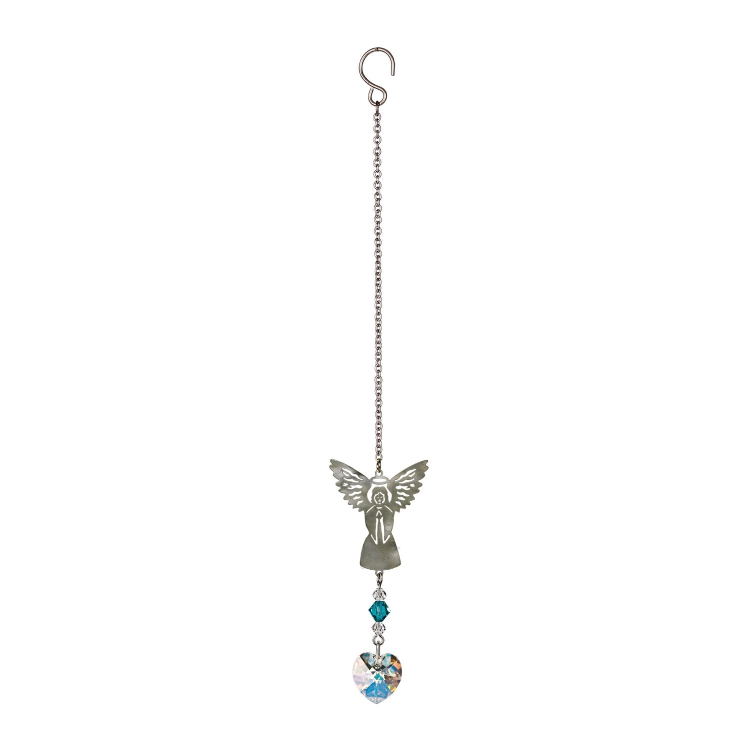 Birthstone Angel Crystal Suncatcher - December full product image