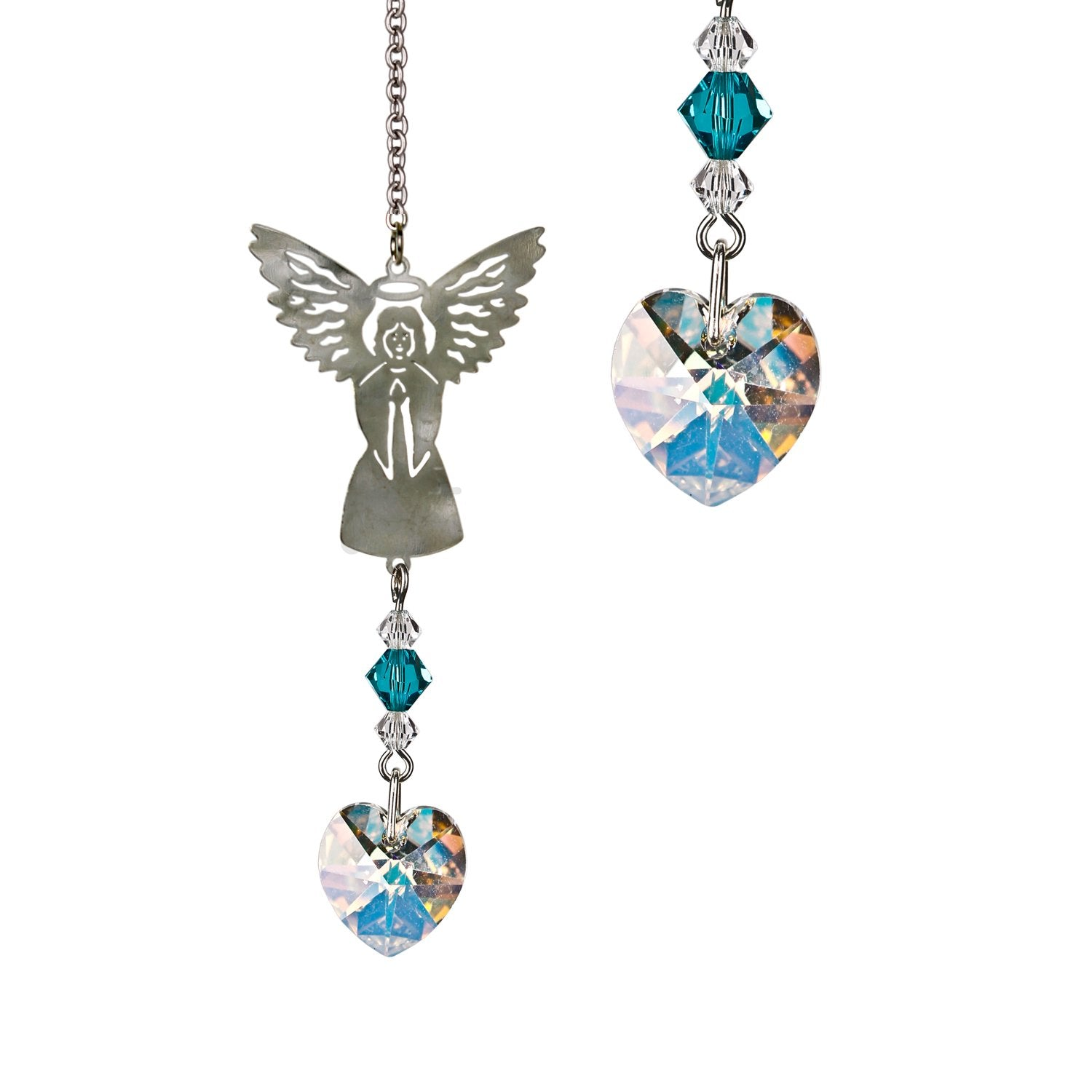 Birthstone Angel Crystal Suncatcher - December main image