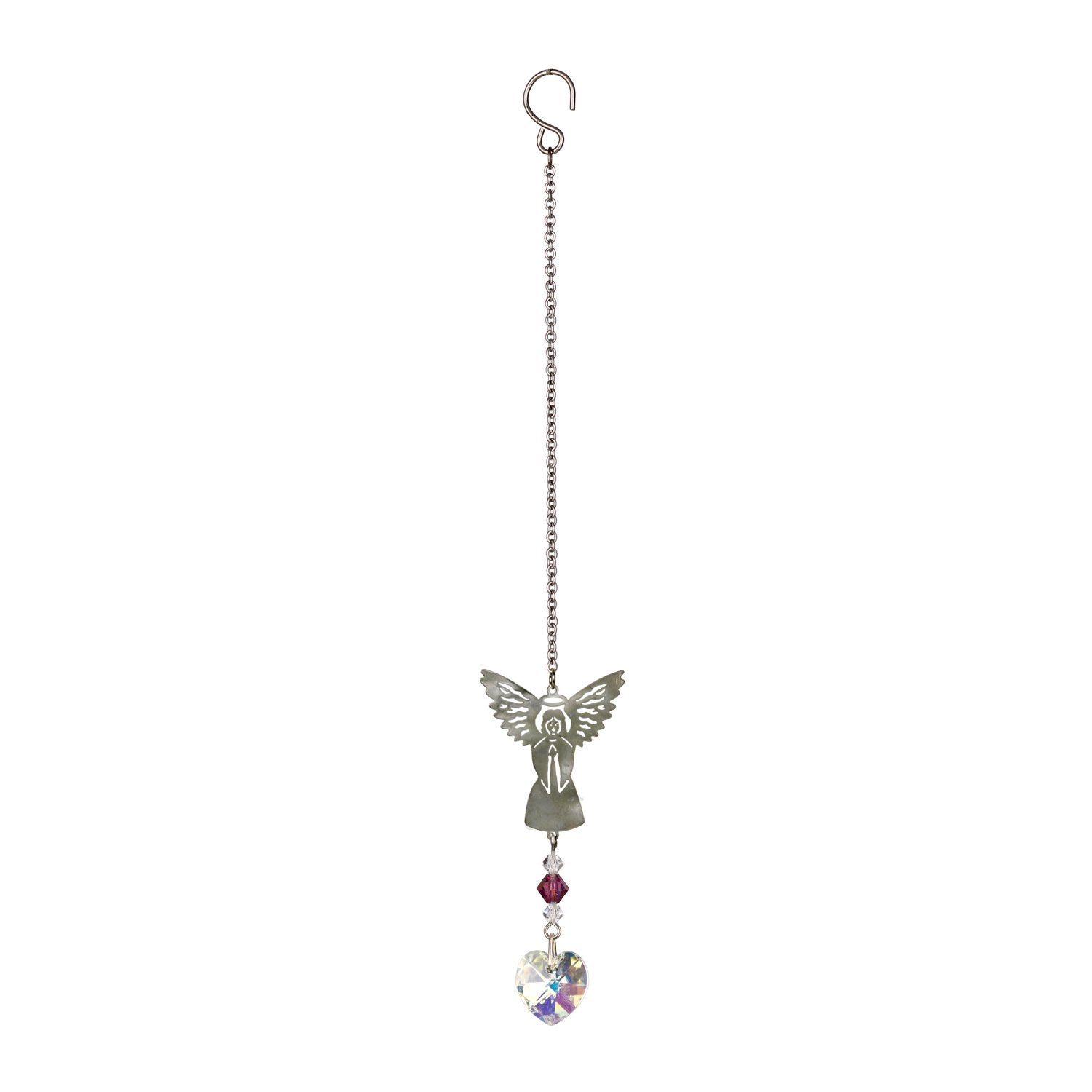 Birthstone Angel Crystal Suncatcher - February full product image