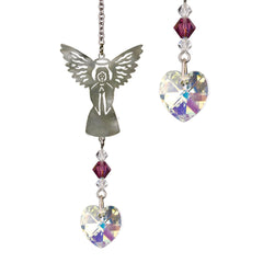 Birthstone Angel Crystal Suncatcher - February main image