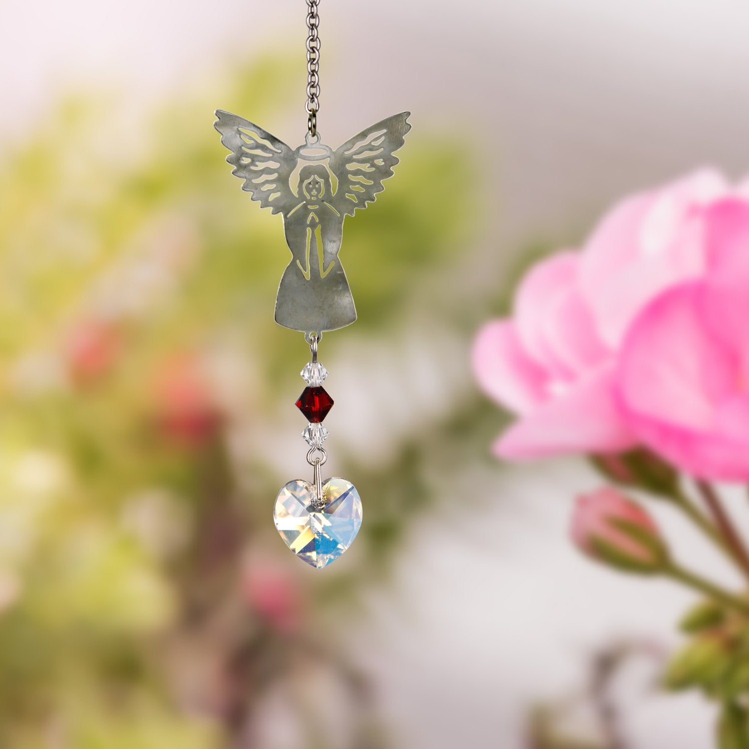 Birthstone Angel Crystal Suncatcher - January lifestyle image