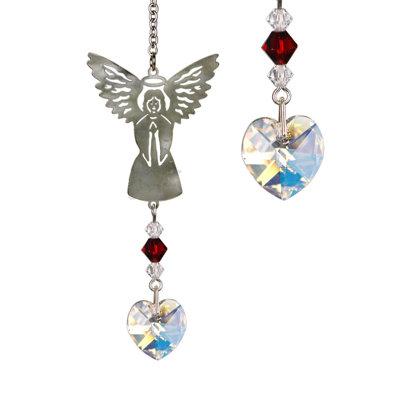 Birthstone Angel Crystal Suncatcher - January main image