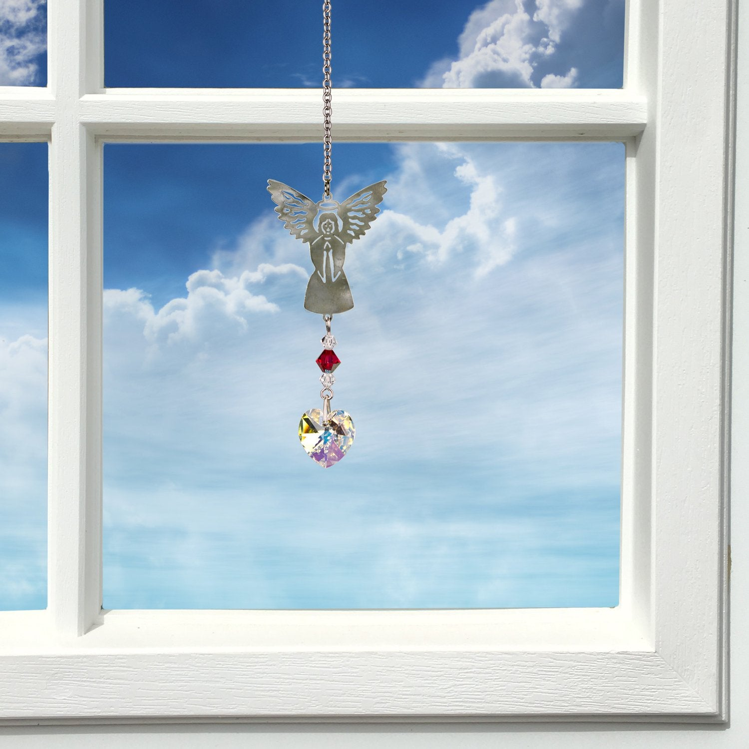 Birthstone Angel Crystal Suncatcher - July lifestyle image