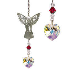 Birthstone Angel Crystal Suncatcher - July main image