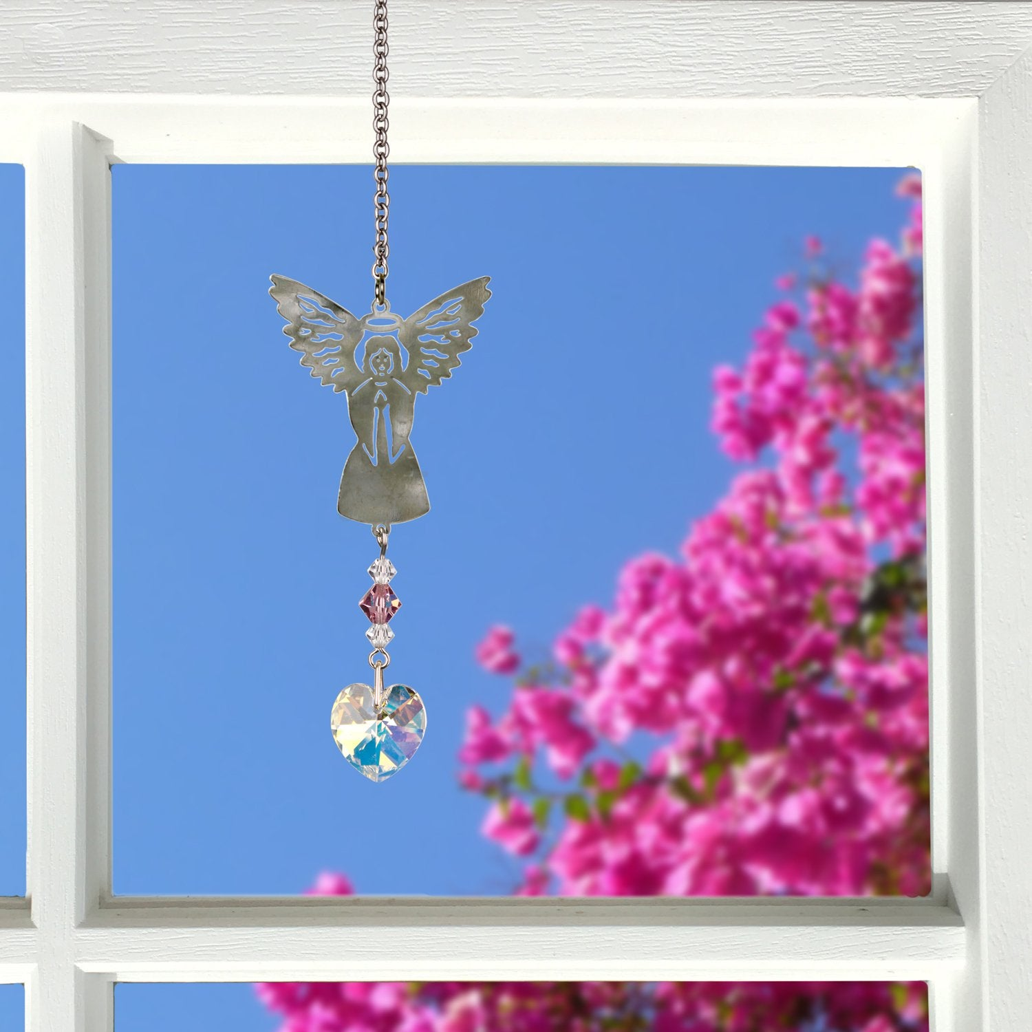 Birthstone Angel Crystal Suncatcher - June lifestyle image