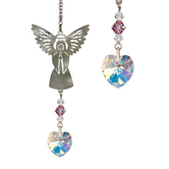 Birthstone Angel Crystal Suncatcher - June main image