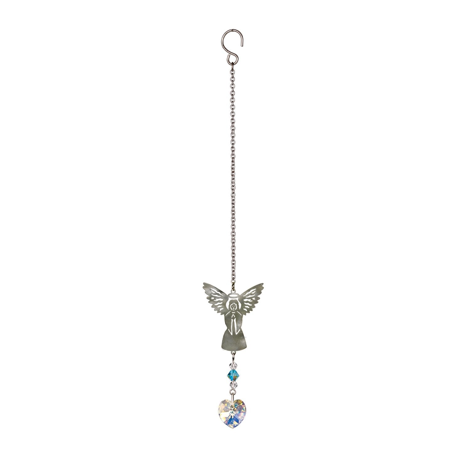 Birthstone Angel Crystal Suncatcher - March full product image