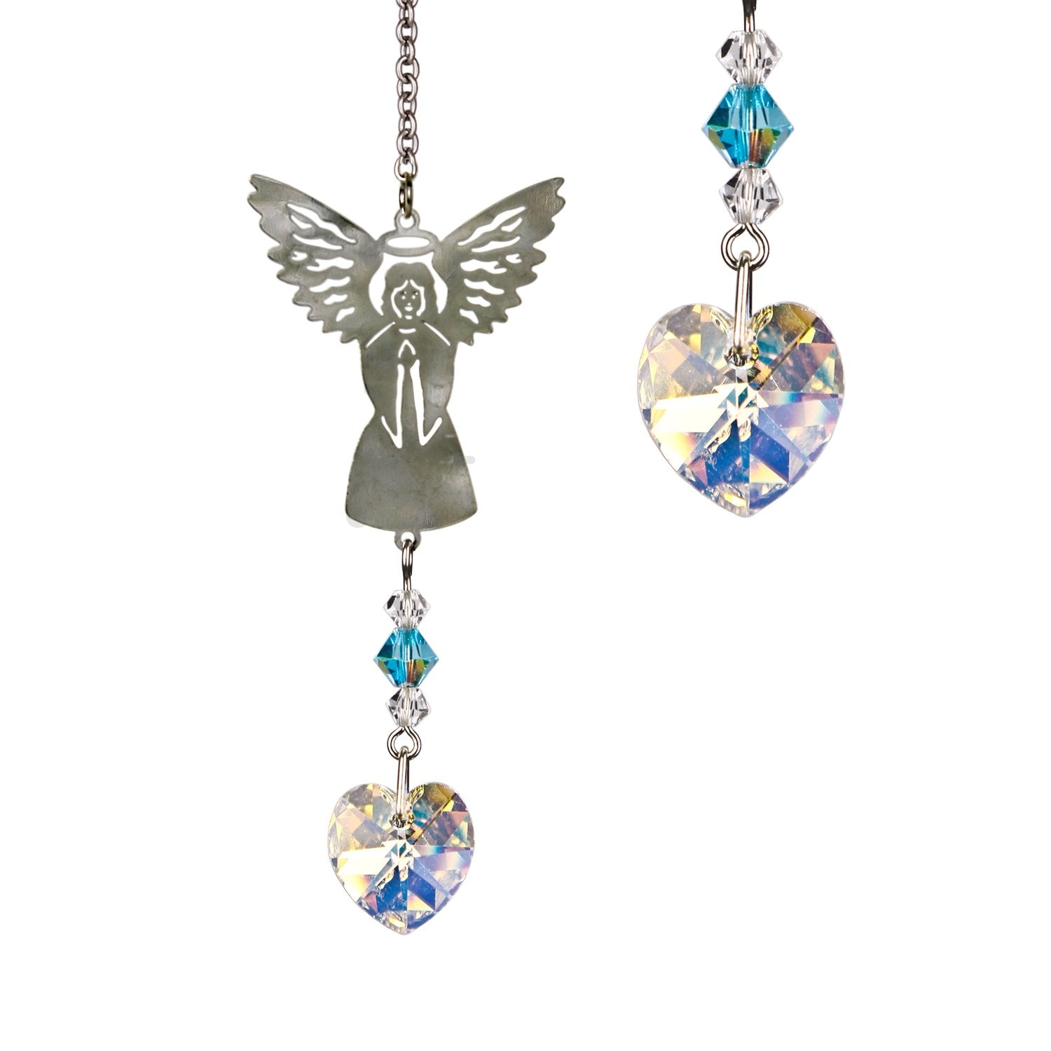 Birthstone Angel Crystal Suncatcher - March main image