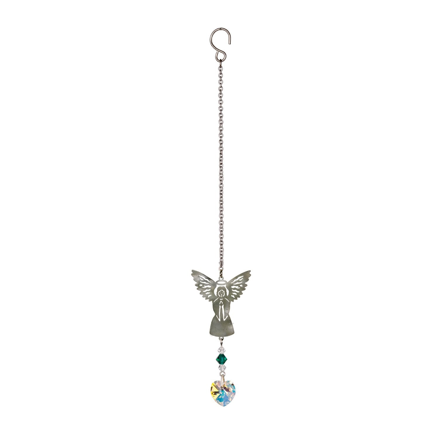 Birthstone Angel Crystal Suncatcher - May full product image
