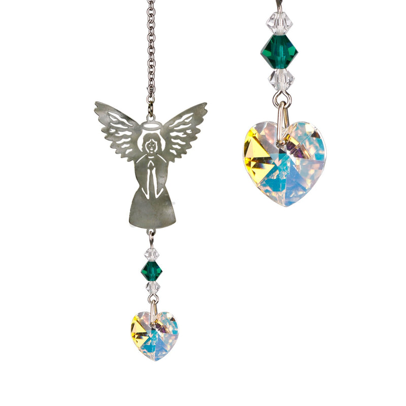 Birthstone Angel Crystal Suncatcher - May main image