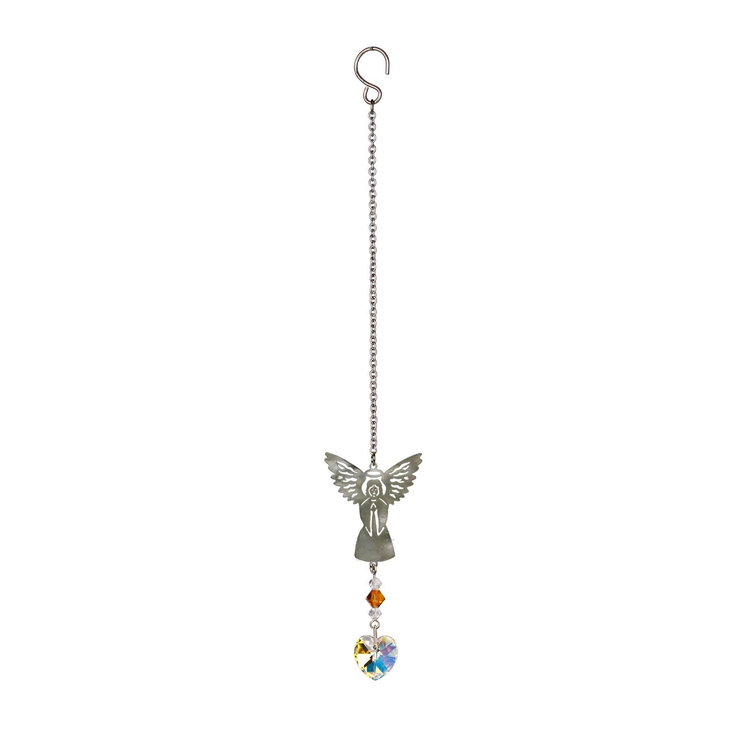 Birthstone Angel Crystal Suncatcher - November full product image