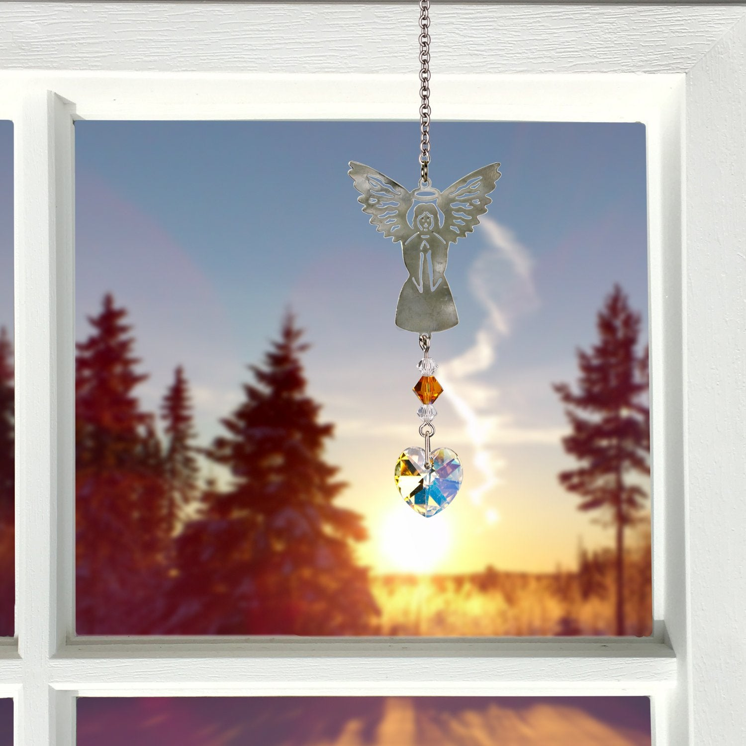 Birthstone Angel Crystal Suncatcher - November lifestyle image