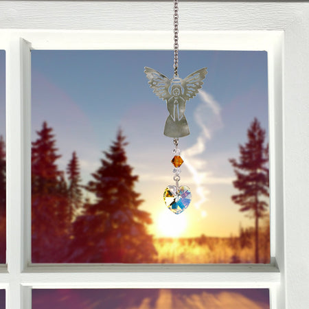 Birthstone Angel Crystal Suncatcher - November proportion image