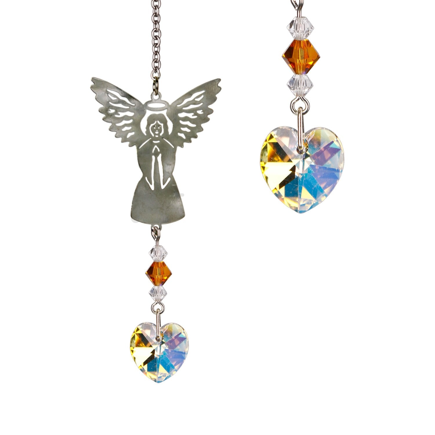 Birthstone Angel Crystal Suncatcher - November main image