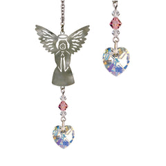 Birthstone Angel Crystal Suncatcher - October main image