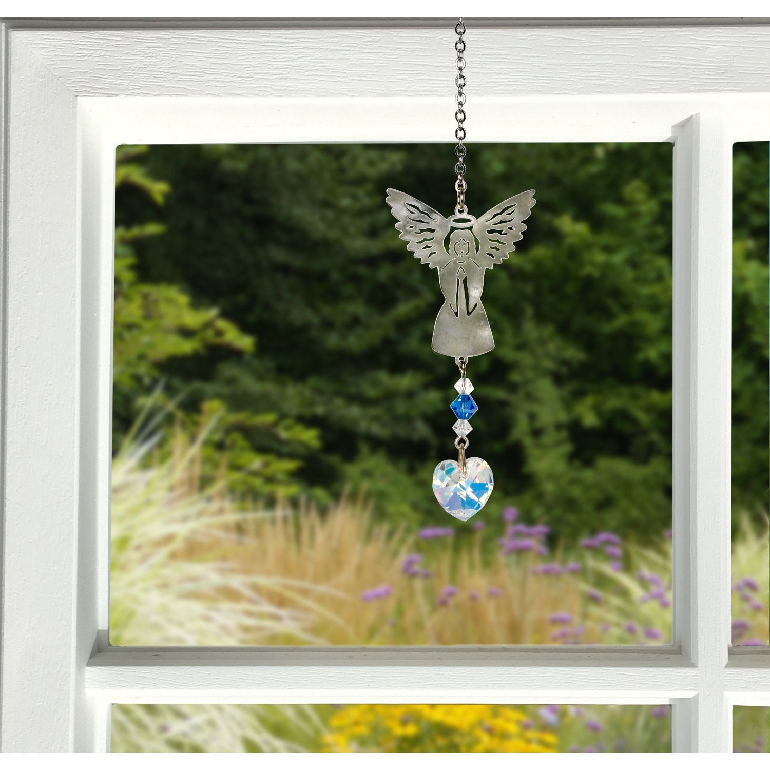 Birthstone Angel Crystal Suncatcher - September lifestyle image