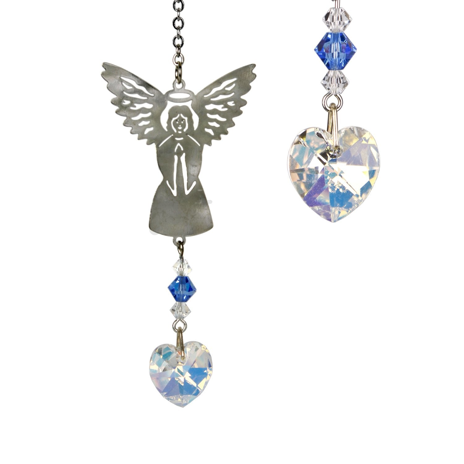 Birthstone Angel Crystal Suncatcher - September main image
