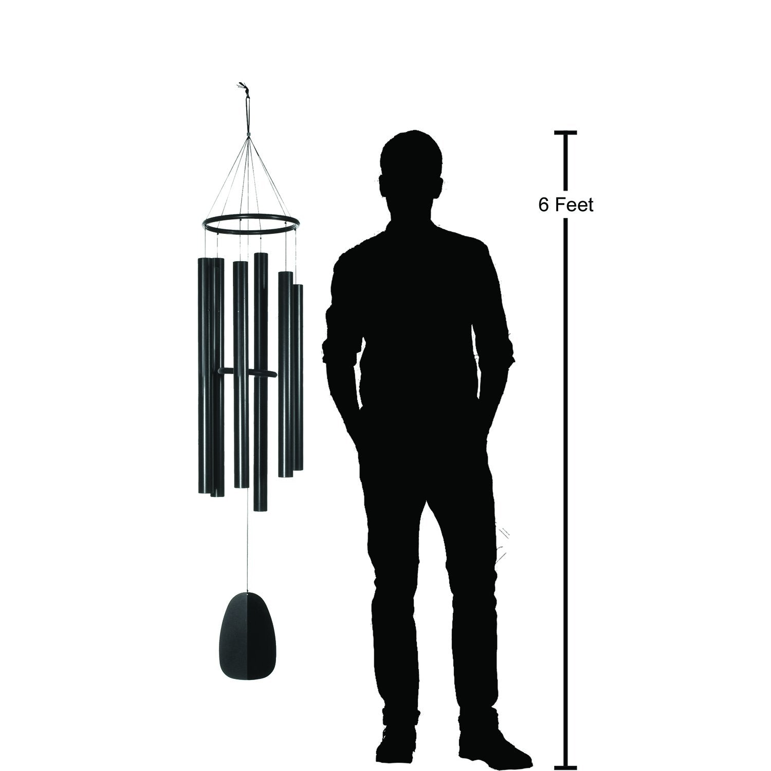 Bells of Paradise - Black, 68-Inch proportion image