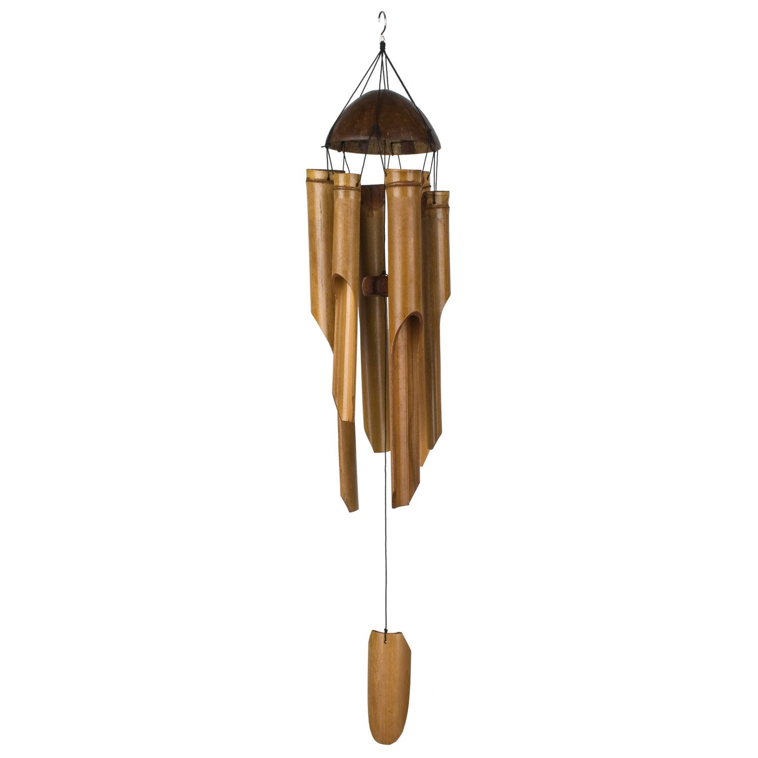 Half Coconut Bamboo Chime - Large full product image