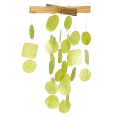 Mini Capiz Chime - Lime Green main image