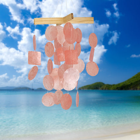 Mini Capiz Chime - Coral proportion image