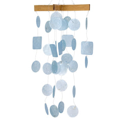 Mini Capiz Chime - Light Blue main image