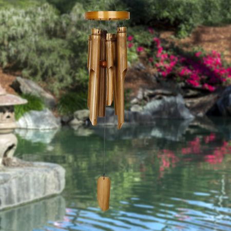 Natural Ring Bamboo Chime - Medium proportion image