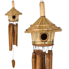 Thatched Roof Birdhouse Bamboo Chime main image