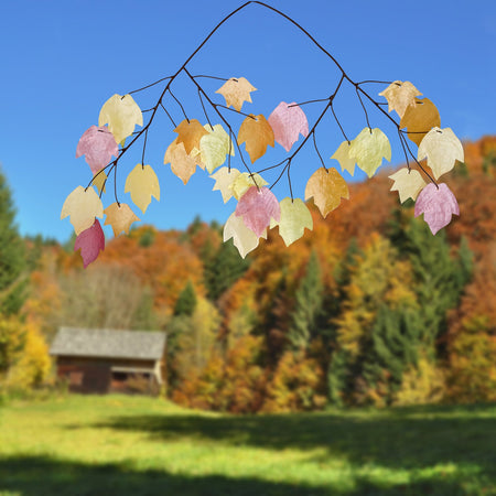 Capiz Chime - Autumn Leaves lifestyle image